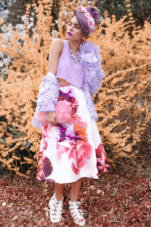 amethyst floral keepsake skirt