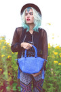 Black-sheer-bomber-style-moi-jacket-blue-one-fated-knight-purse