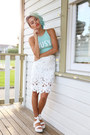 Aquamarine-busy-crop-top-cake-for-breakfast-top-white-radpopsicles-skirt