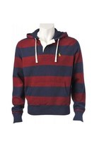 ruby red striped Ralph Lauren hoodie