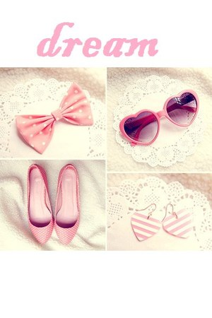 pink sunglasses - pink accessories - pink earrings - pink flats