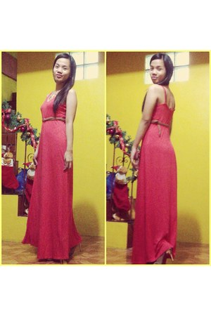 salmon maxi Forever 21 dress