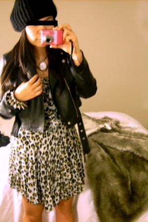 jacket - dress - bracelet - Zara - Tarina Tarantino necklace