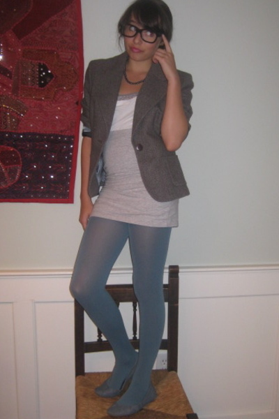 ann taylor blazer - forever 21 shirt - Aeropostale shirt - H&M skirt - Urban Out
