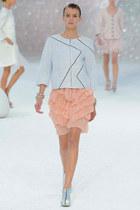 Chanel boots - Chanel blazer - Chanel skirt
