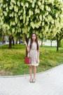 Heather-gray-cherry-printed-vintage-dress-brick-red-prada-bag