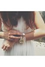 White-vintage-dress-gold-prima-donna-sandals
