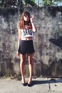 Black-skort-zara-shorts-black-vintage-sunglasses