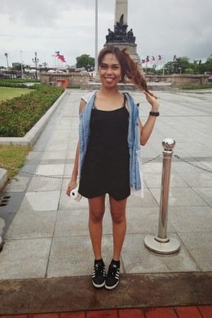 black skort Zara shorts - black cotton Forever 21 top