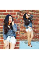 Forever 21 sweater - Urban Outfitters shorts - Steve Madden sandals