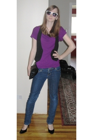forever 21 top - forever 21 vest - forever 21 jeans - payless shoes - Charlotte