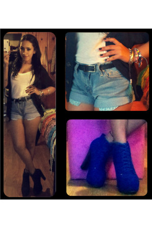 high waist Jessica Simpson shorts - blue lita inspired Glaze boots