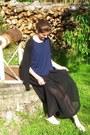 Black-asos-skirt-navy-made-in-france-top-black-zara-cardigan