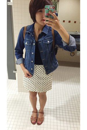 old n jacket - Target shirt - Steve Madden sandals - JCrew skirt