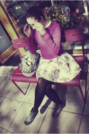 Guess sweater - bag - New Yorker flats - Vero Moda skirt - vintage necklace