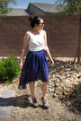 Black-thrifted-sunglasses-ivory-eyelet-old-navy-top-violet-lucaya-skirt