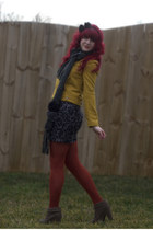 tan-tweed Blowfish Shoes boots - mustard yellow Francescas Collections coat