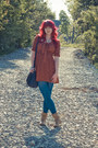Wet-seal-boots-burnt-sienna-modcloth-dress-old-navy-tights