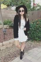cotton Forever 21 dress - leather Jeffrey Campbell shoes - cotton kohls coat