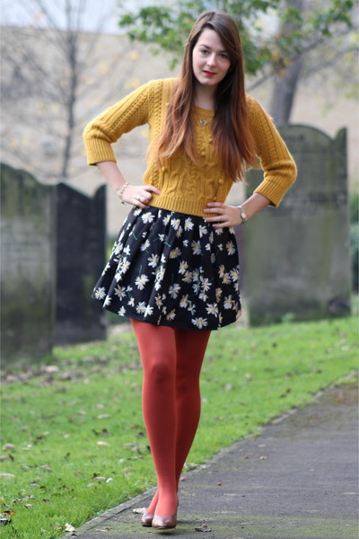 mustard George At Asda sweater - black worn as a skirt new look dress