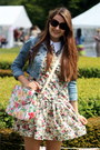 Eggshell-floral-vintage-dress-violet-denim-matalan-jacket