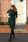 Forest-green-collectif-dress-black-asos-heels