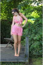 red Topshop romper - light brown Free with magazine sunglasses