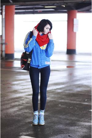 sky blue Timberland boots - sky blue adidas star wars jacket