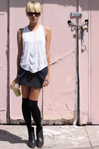 white t by alexander wang top - black Rachel Comey boots