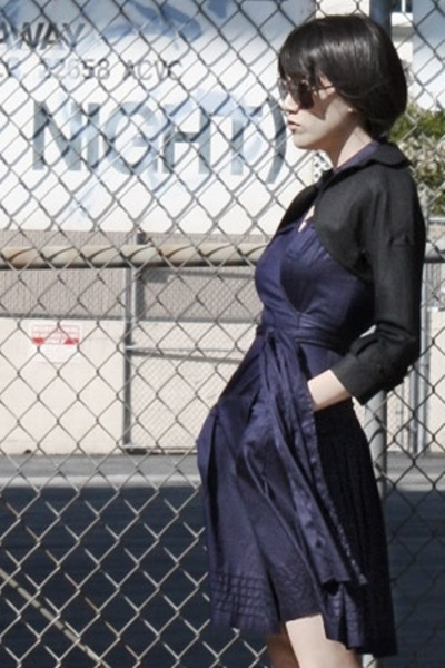 Rose jacket - dvf dress - HUE socks - Rachel Comey boots - vintage sunglasses