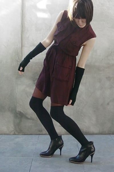 Opening Ceremony dress - Tsesay gloves - socks - Wolford tights