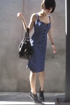Derek Lam dress - Hugo Boss boots - Derek Lam purse