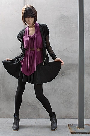 Rick Owens jacket - Rachel Comey top - Spanx tights - Rachel Comey boots - Rache