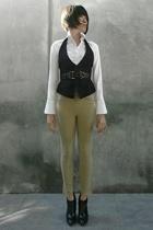 black Express vest - black Hugo Boss shoes - white Express shirt