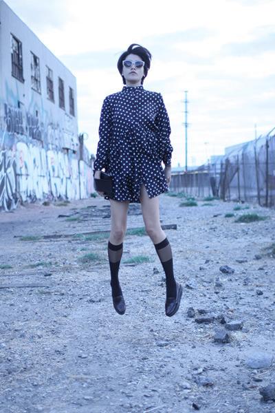 black Carin Wester x ADAX bag - navy Envy Look dress