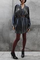 Eksempel dress - Wolford leggings - Rachel Comey belt - Hugo Boss boots