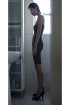 gray rick owens lilies dress - black Premiata pumps