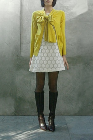Opening Ceremony sweater - H&M dress - Wolford tights - Miss Sixty boots