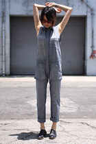 red Derek Lam sunglasses - black Jil Sander flats - blue Enza Costa jumper