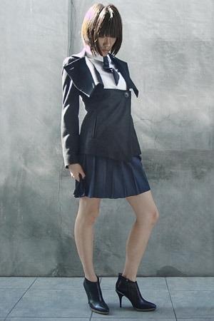 vivienne westwood jacket - sofake shirt - Lands End skirt - Hugo Boss boots
