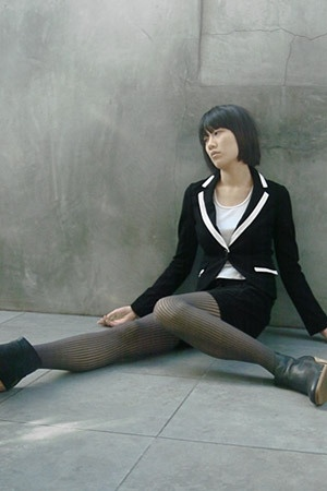 Express blazer - Hanes t-shirt - Anzevino & Florence shorts - Wolford tights - R