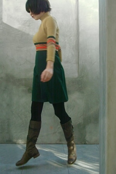 vintage dress - Spanx tights - LD Tuttle boots