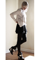 black Theory tights - black Pencey dress - off white funktional jacket