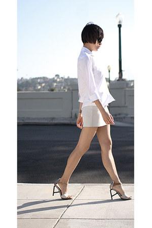 asos shirt - Hussein Chalayan skirt - LD Tuttle heels