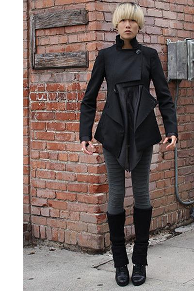 black vivienne westwood coat - gray Cheap Monday leggings - black Y-3 shirt