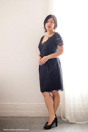 black lace Stella McCartney for Target dress - black patent leather heels
