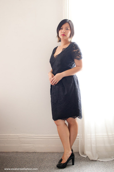 Black Lace Stella Mccartney For Target Dresses Black Patent Leather