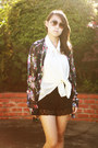 Navy-express-cardigan-black-lace-bloomers-iris-shorts