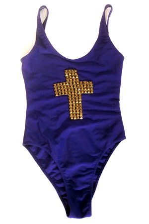studded cross Total Recall Vintage bodysuit