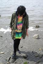 jacket - dress - boots
